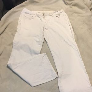 White Old Navy Jeans, curvy fit, boot cut sz 12